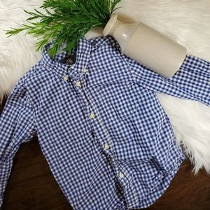 🌿5/$25 H&M Blue Plaid Button Down Shirt | 5t